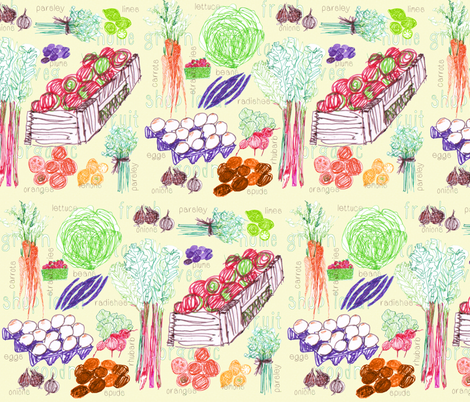 Farmers Market creamier fabric by wiccked on Spoonflower - custom fabric