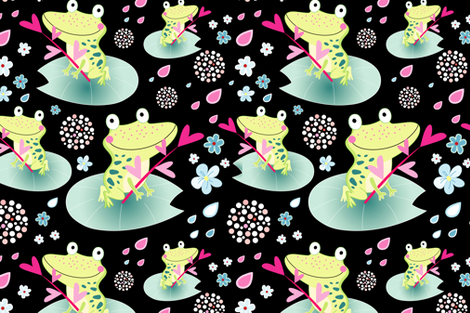 Funny frog lovers fabric by tanor on Spoonflower - custom fabric