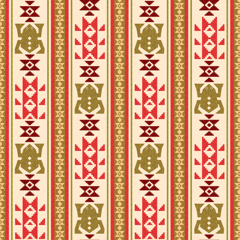 Navajo frogs-1 fabric by cutepatterns on Spoonflower - custom fabric