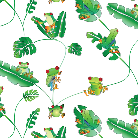 Even more little tree frogs fabric by ebygomm on Spoonflower - custom fabric