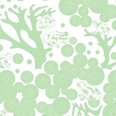 The Frog Pond by baubau fabric by baubau on Spoonflower - custom fabric