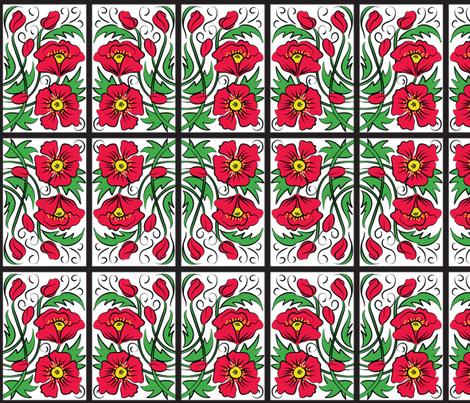 Tiled Poppy