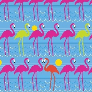 Tropical Flamingo Print