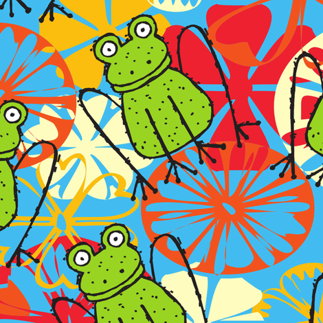 Freckles the Funky Froggie fabric by deeniespoonflower on Spoonflower - custom fabric