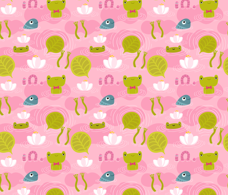 Frogs! fabric by kostolom3000 on Spoonflower - custom fabric