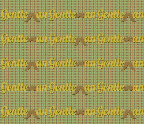Gentleman fabric by campbellcreative on Spoonflower - custom fabric