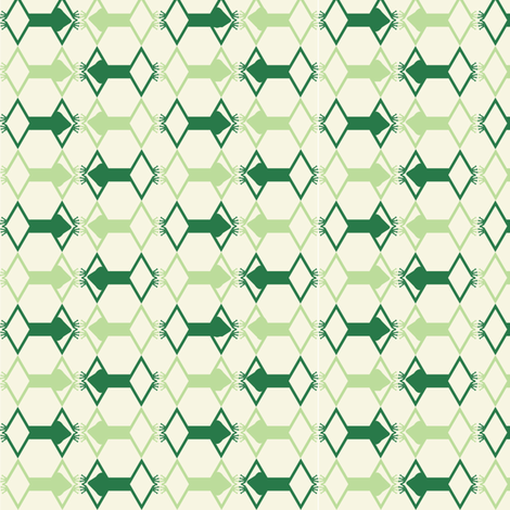frog of diamonds fabric by lpoet on Spoonflower - custom fabric