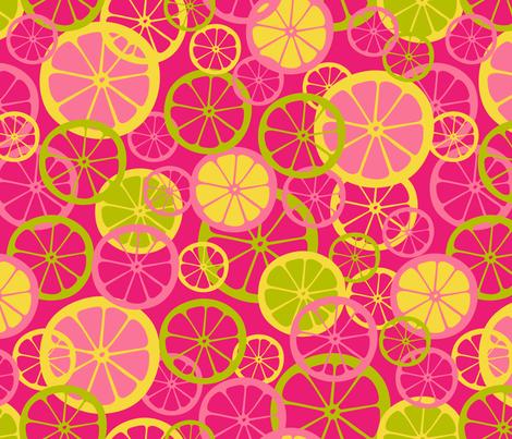 Pink Lemonade fabric by mariafaithgarcia on Spoonflower - custom fabric