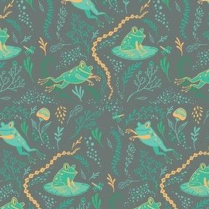 Woodland Fanciful Frogs