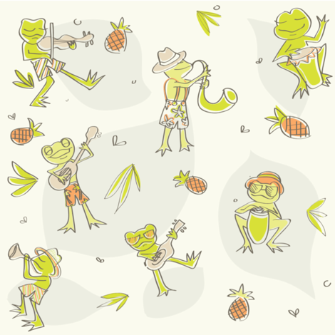 Frog Jamboree fabric by kaytidesigns on Spoonflower - custom fabric