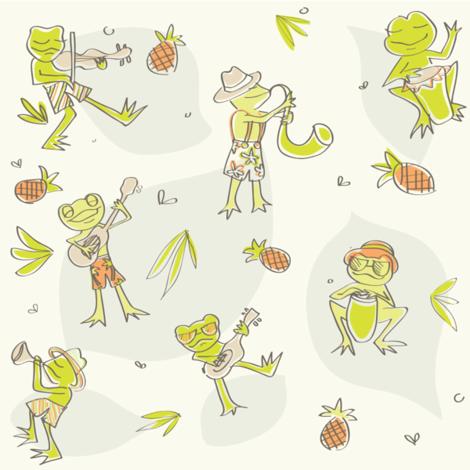 Frog Jamboree fabric by kaytidesigns on Spoonflower - custom fabric