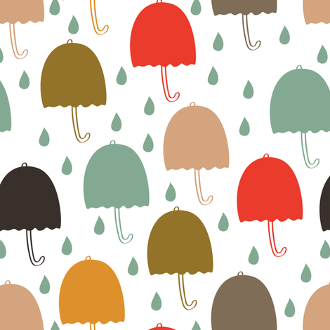 Umbrellas_pattern fabric by nenilkime on Spoonflower - custom fabric