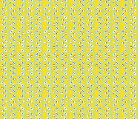 mod_flower_jaune_S fabric by nadja_petremand on Spoonflower - custom fabric
