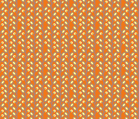 mod_flower_orange_S fabric by nadja_petremand on Spoonflower - custom fabric