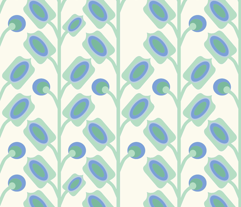 mod_flower_vert_L fabric by nadja_petremand on Spoonflower - custom fabric