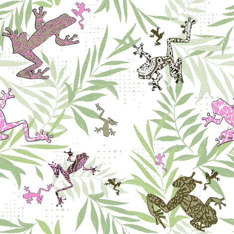 fabric_frogs fabric by energypattern on Spoonflower - custom fabric