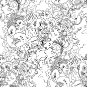 Monsters Fabric Design