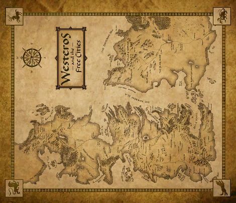 Map of Westeros fabric by implexity on Spoonflower - custom fabric