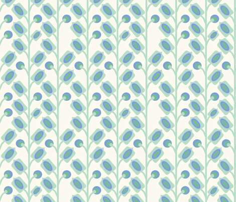 mod_flower_vert_M fabric by nadja_petremand on Spoonflower - custom fabric