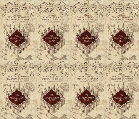 Marauder's Map fabric by implexity on Spoonflower - custom fabric