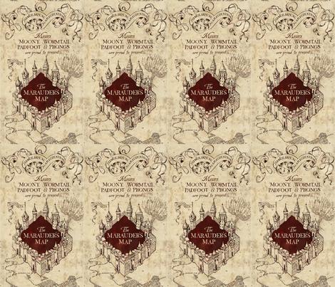 Marauder's Map fabric by implexity on Spoonflower - custom fabric