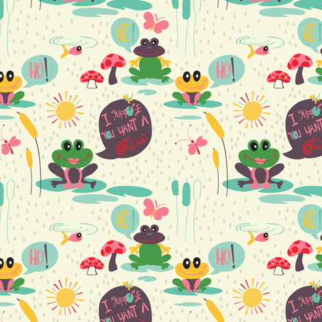 I_suppose_you_want_a_kiss fabric by pragya_k on Spoonflower - custom fabric