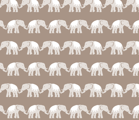 elephant_march_1 fabric by juneblossom on Spoonflower - custom fabric