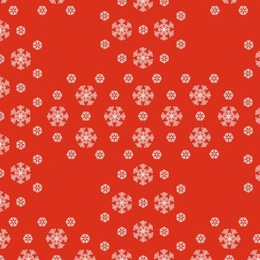 Red Snowflake Weave ©2013 by Jane Walker
