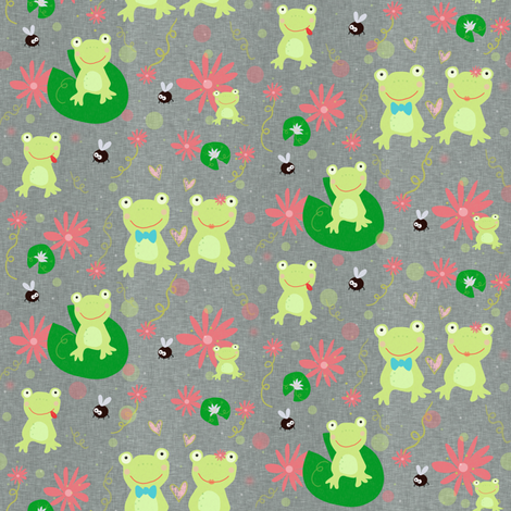 Froggie Friends Forever fabric by taramcgowan on Spoonflower - custom fabric