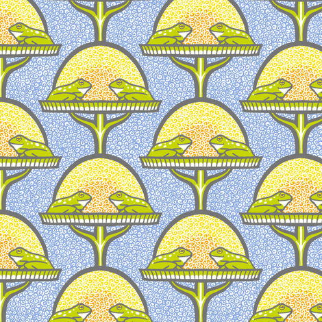 Amphibian Romance on the Sunrise Terrace fabric by siya on Spoonflower - custom fabric