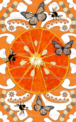 Citrus Garden Brocade