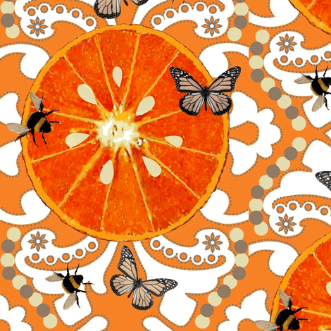 Citrus Garden Brocade fabric by paragonstudios on Spoonflower - custom fabric