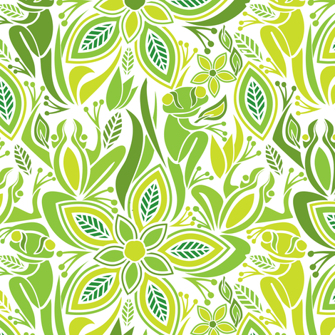 Green frog green frog fabric by ebygomm on Spoonflower - custom fabric