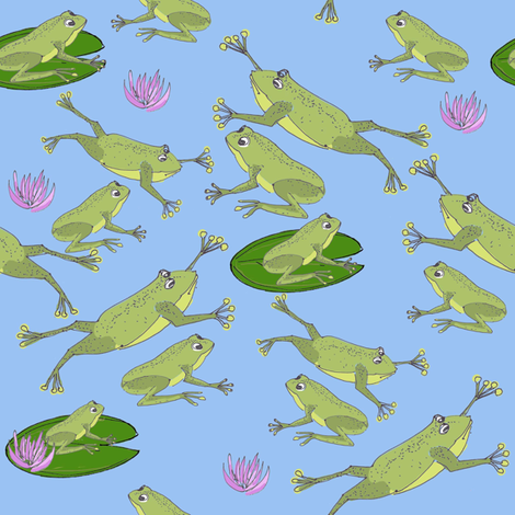 leap_frog fabric by collage on Spoonflower - custom fabric