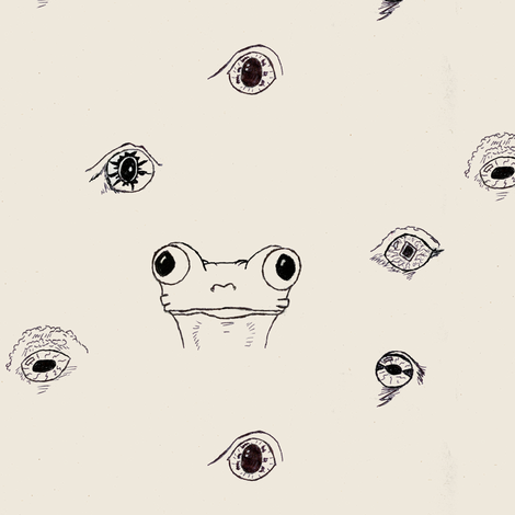 Frogs are Watching You fabric by moonbeams on Spoonflower - custom fabric