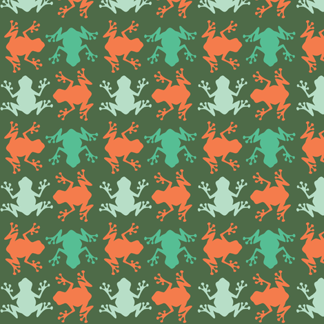 Hawaian Frogs fabric by pieke_wieke on Spoonflower - custom fabric