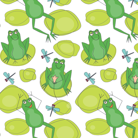 Swamp Romp fabric by lily_studio on Spoonflower - custom fabric