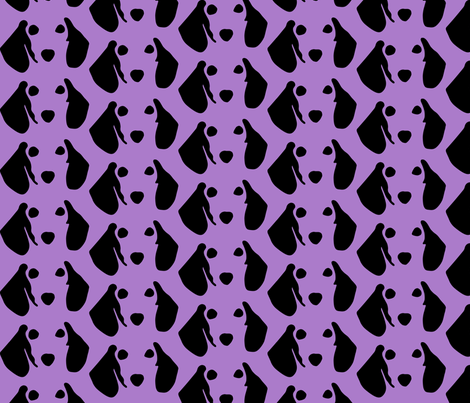 dachshund purple fabric by mariafaithgarcia on Spoonflower - custom fabric