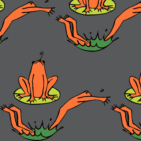 Leap Frogs fabric by kimthings on Spoonflower - custom fabric