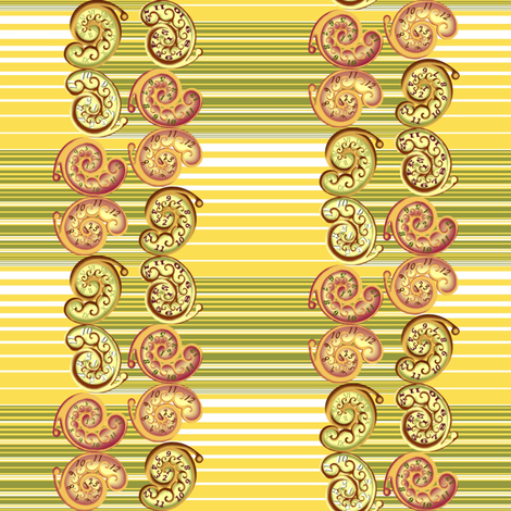 Nautilus_clocks_and_stripes fabric by art_on_fabric on Spoonflower - custom fabric
