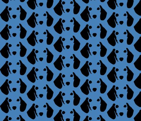 Dachshund Blue fabric by mariafaithgarcia on Spoonflower - custom fabric