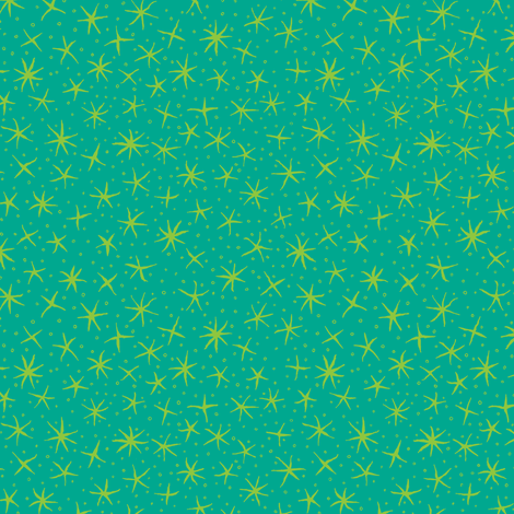 stellate whimsy in teal and lime