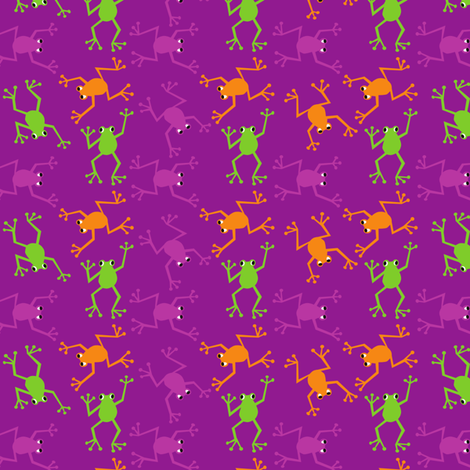 Frogs8X8 fabric by positivenegative on Spoonflower - custom fabric