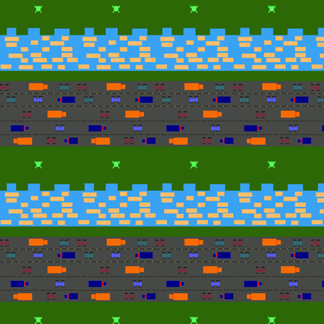 frogger fabric by e_sax_valcen on Spoonflower - custom fabric