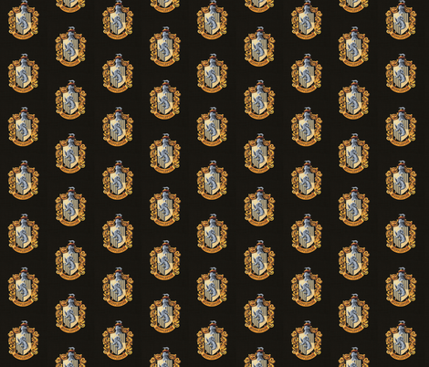Hufflepuff fabric by buttonmushroom on Spoonflower - custom fabric