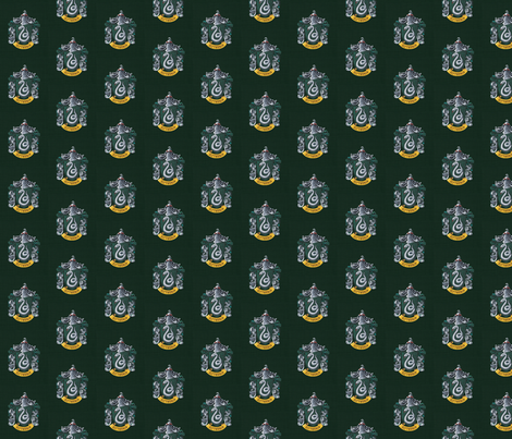 Slytherin fabric by buttonmushroom on Spoonflower - custom fabric