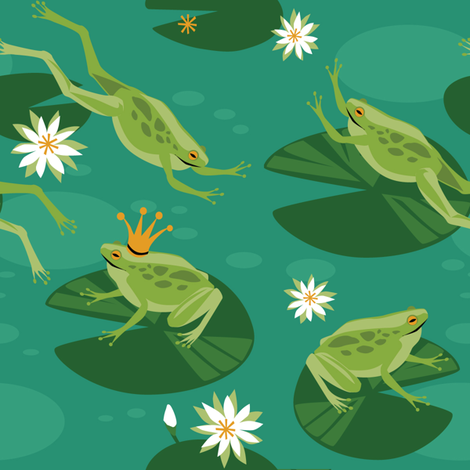 Looking for Frog Prince fabric by robinpickens on Spoonflower - custom fabric
