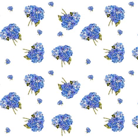 Hydrangea nosegays fabric by karenharveycox on Spoonflower - custom fabric