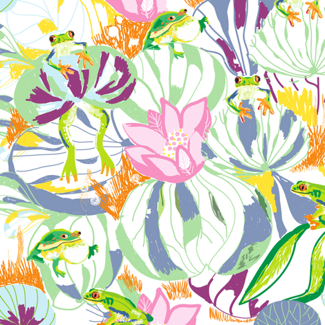 ranas fabric by maribel on Spoonflower - custom fabric
