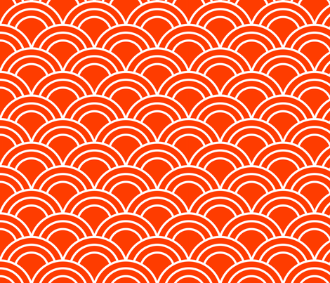 Tangerine Scales fabric by nixongraphix on Spoonflower - custom fabric